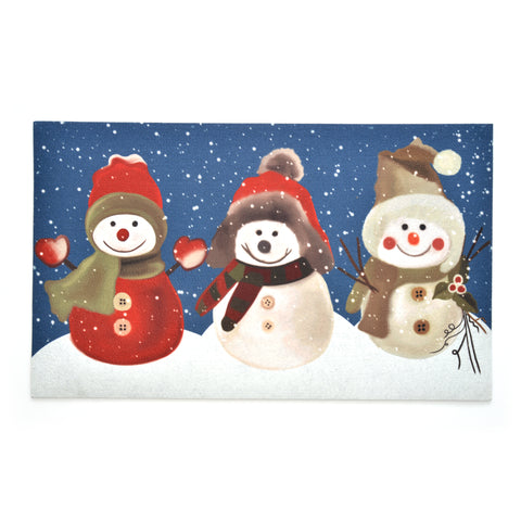 Seasonal Door Mat | Recycled Crumb Rubber - Snow Buddies
