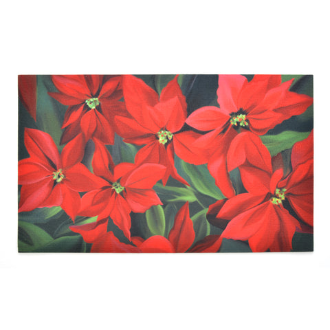 Seasonal Door Mat | Recycled Crumb Rubber - Poinsettia
