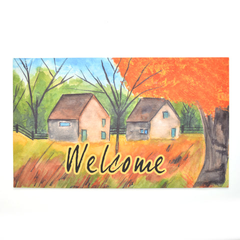 Seasonal Door Mat | Recycled Crumb Rubber - Country Autumn