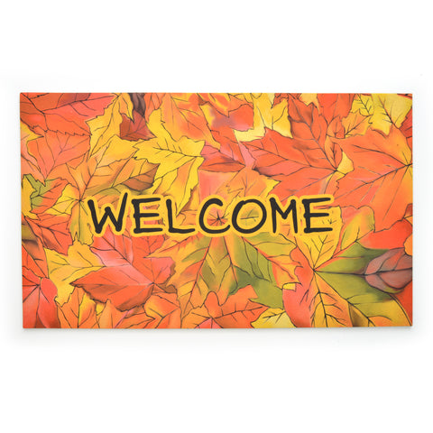 Stephan Roberts® | Flock Printed Crumb Rubber - Welcome to Fall Mat