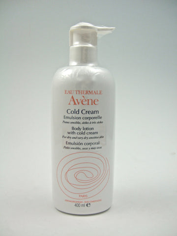 Avene Cold Cream Body Lotion 13.52 oz/400 ml EXP 02/15 CLEARANCE