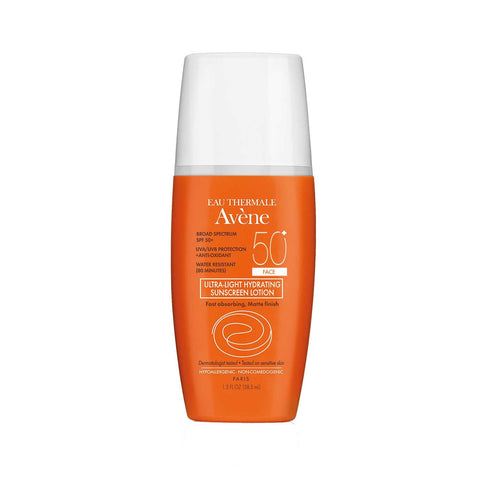 Avene Ultra-Light Hydrating Suncreen SPF 50+ Face 1.3 oz Exp 05/2017