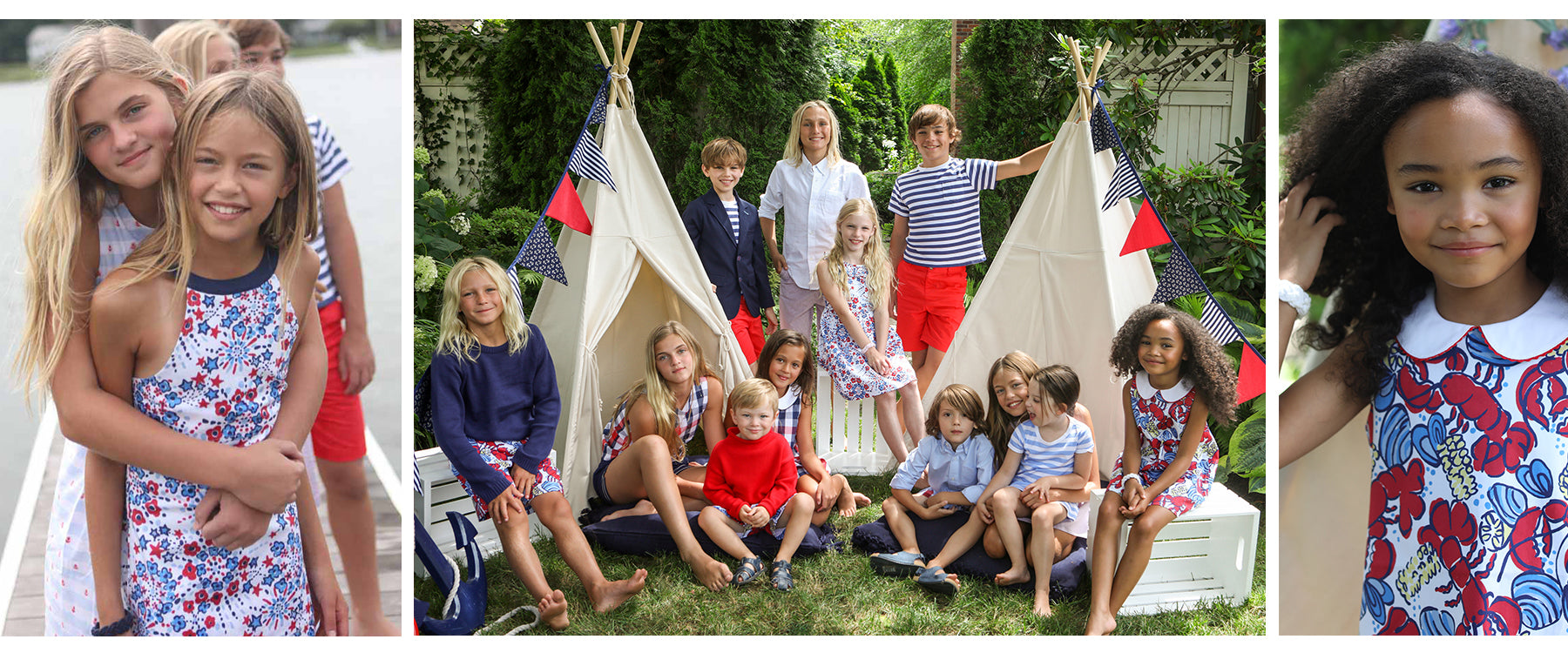 Classic Prep Childrenswear for boys and girls summer outfits