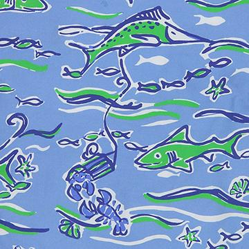 preppy boys sealife print for spring shorts and john johns