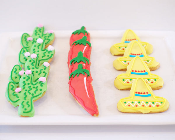 Assorted Cinco de Mayo Sugar Cookies