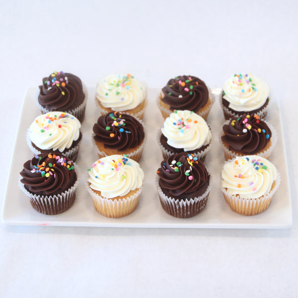Assorted Chocolate and Vanilla Cupcakes