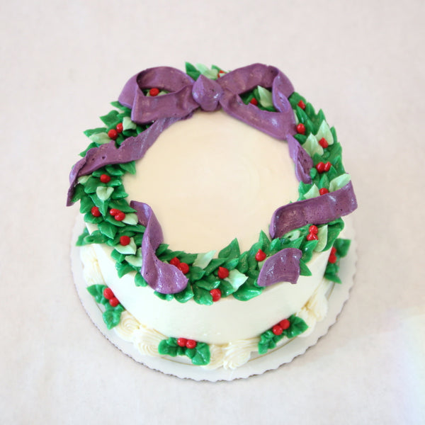 Holiday Wreath Cake
