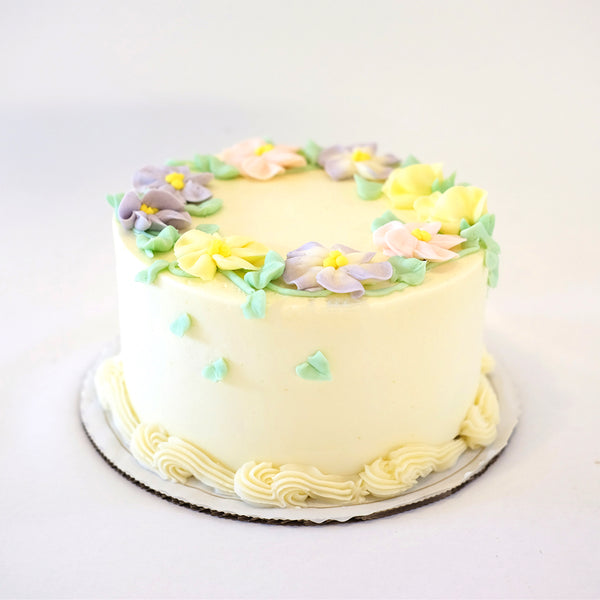 Easter Lemon Raspberry Cake