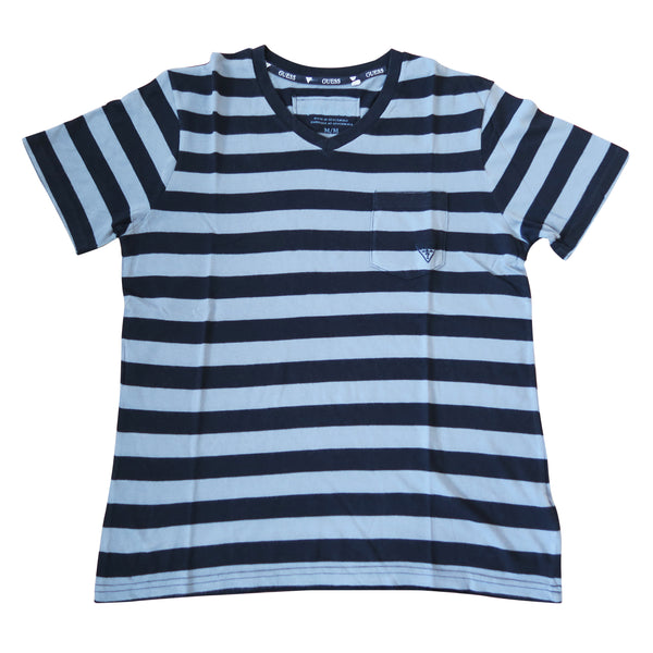 Guess Stripe Embroidered Logo Tee