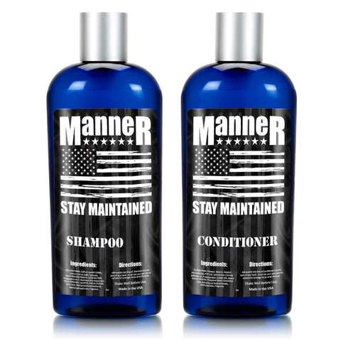 Manner Beard Shampoo and Conditioner Combo - 8oz