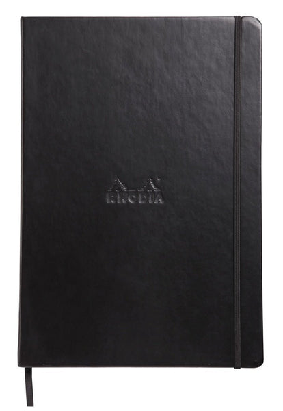 Rhodia Boutique Webnotebook, Bound 5 ½ x 8 ¼, Lined, Black, 96 sheets