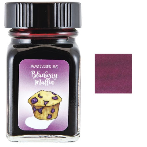 Monteverde 30ml Fountain Pen Ink Bottle, Sweet Life, Blueberry Muffin