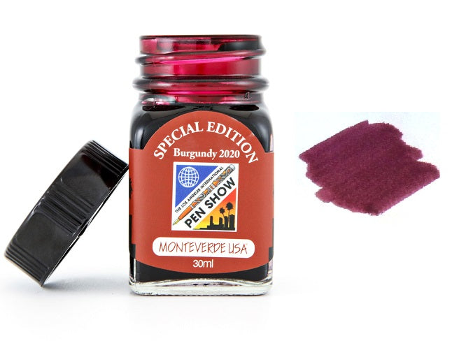 Monteverde 30ml Special Edition Fountain Pen Ink Bottle, 2020 LA Burgundy