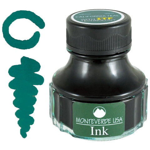 Monteverde 90ml Fountain Pen Ink Bottle, California Teal