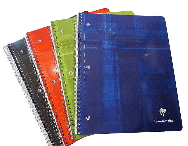 Clairefontaine Classic Wirebound Notebook - Lined, 3-Hole Punched - 8x11
