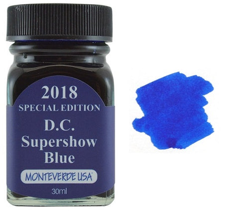 Monteverde 30ml Special Edition Fountain Pen Ink Bottle - DC Supershow Blue