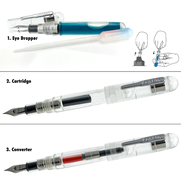 cinklin-all-american-clear-fountain-pen-instructions-pensavings