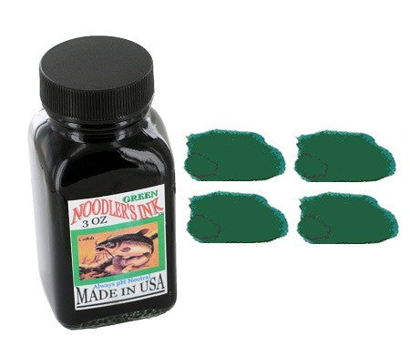 Noodlers Fountain Pen Ink Bottle - Standard Green