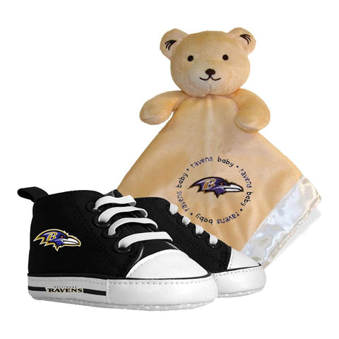 Baltimore Ravens Nfl Infant Blanket And Shoe Set