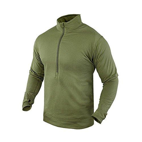 Base Ii Zip Pullover Color- Od Green (large)