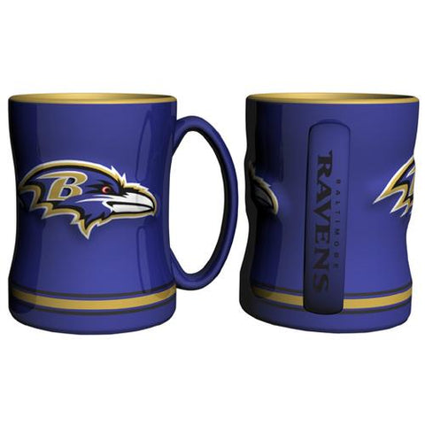 Baltimore Ravens Nfl Coffee Mug - 15oz Sculpted (single Mug)
