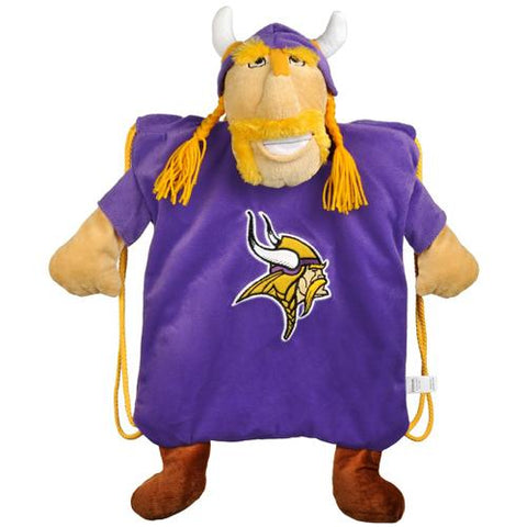 Minnesota Vikings Nfl Plush Mascot Backpack Pal