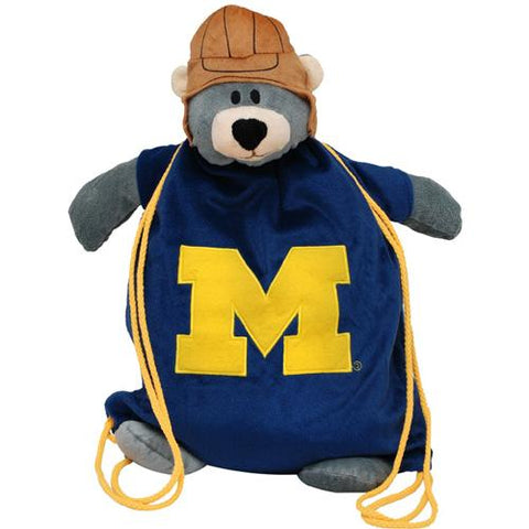 Michigan Wolverines Ncaa Plush Mascot Backpack Pal