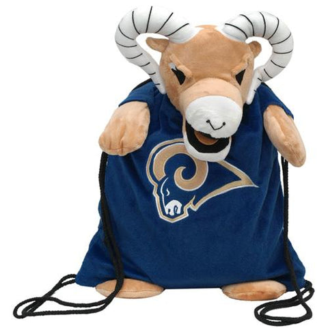 Los Angeles Rams Nfl Plush Mascot Backpack Pal