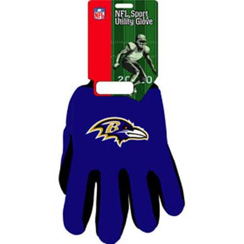 Baltimore Ravens Nfl Two Tone Gloves