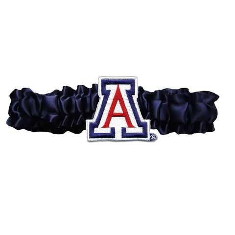 Arizona Wildcats Ncaa Satin Garter (navy Blue)
