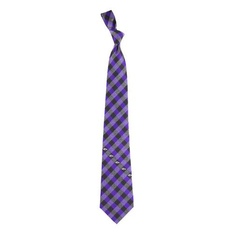 Baltimore Ravens Nfl Check Poly Necktie