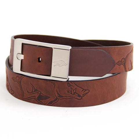 Arkansas Razorbacks Ncaa Brandish Leather Belt Size 40