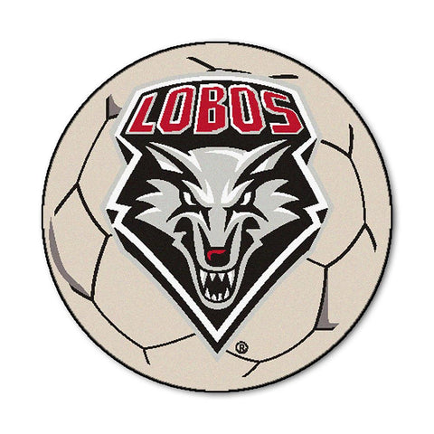 "New Mexico Lobos Ncaa ""soccer Ball"" Round Floor Mat (29"")"