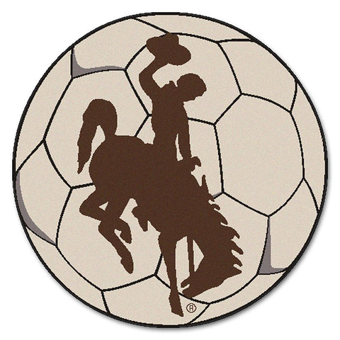 "Wyoming Cowboys Ncaa ""soccer Ball"" Round Floor Mat (29"")"