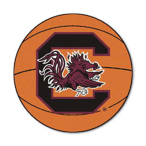 "South Carolina Fighting Gamecocks Ncaa ""basketball"" Round Floor Mat (29"")"