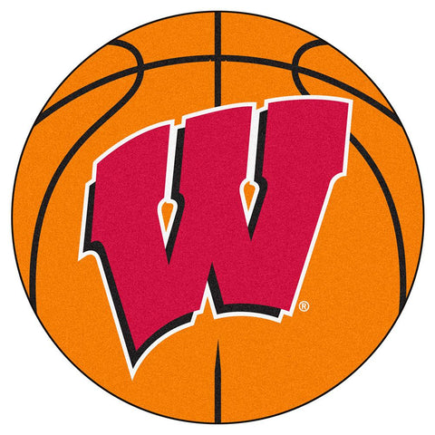 "Wisconsin Badgers Ncaa ""basketball"" Round Floor Mat (29"") W Logo"