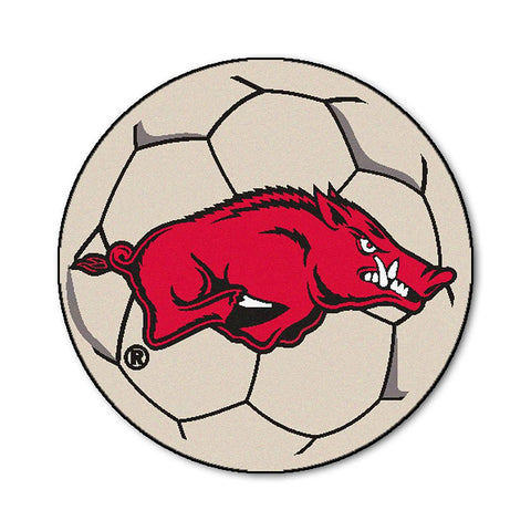 "Arkansas Razorbacks Ncaa ""soccer Ball"" Round Floor Mat (29"")"