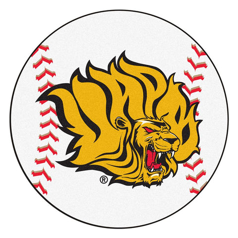 "Arkansas Pine Bluff Golden Lions Ncaa Baseball Round Floor Mat (29"")"