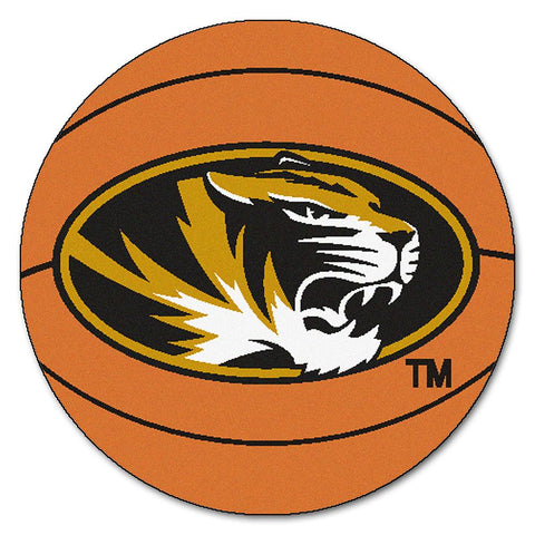 "Missouri Tigers Ncaa ""basketball"" Round Floor Mat (29"")"