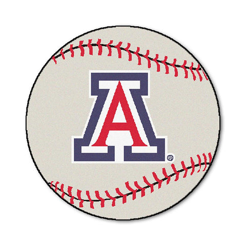 "Arizona Wildcats Ncaa ""baseball"" Round Floor Mat (29"")"