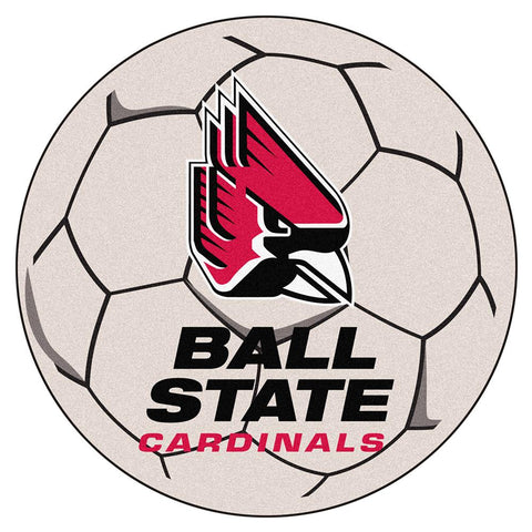 "Ball State Cardinals Ncaa ""soccer Ball"" Round Floor Mat (29"")"