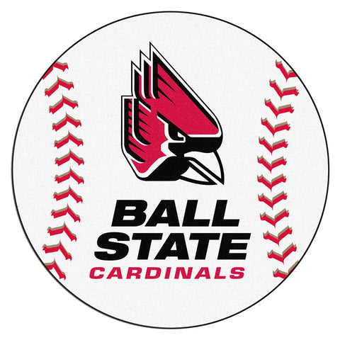 "Ball State Cardinals Ncaa ""baseball"" Round Floor Mat (29"")"