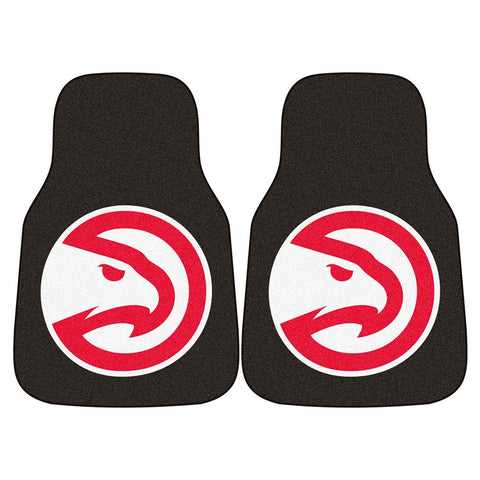 Atlanta Hawks Nba 2-piece Printed Carpet Car Mats (18x27)