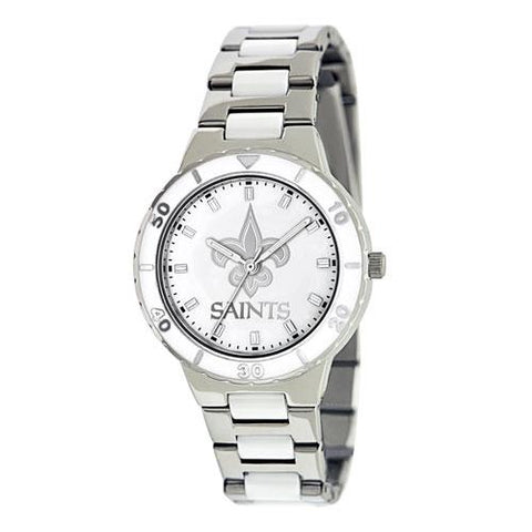 "New Orleans Saints Nfl Ladies ""pro Pearl Series"" Watch"