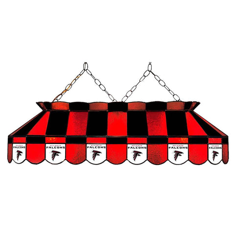 Atlanta Falcons Nfl 40 Inch Billiards Stained Glass Lamp