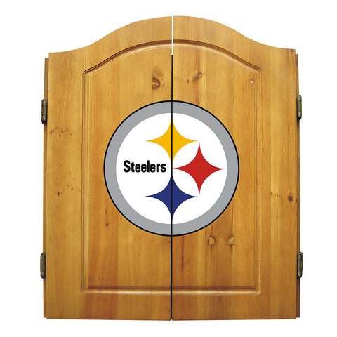 Pittsburgh Steelers Nfl Dart Board W-cabinet