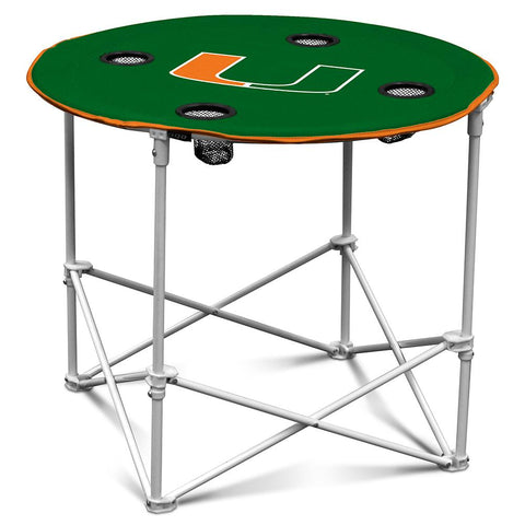 Miami Hurricanes Ncaa Round Table (30in)