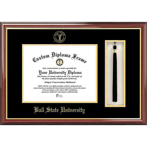 Ball State University Tassel Box And Diploma Frame