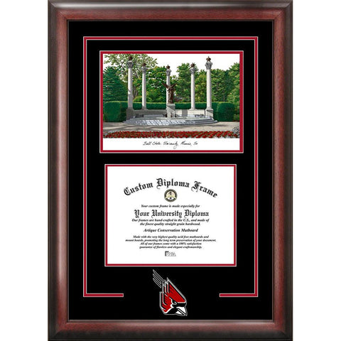 "Ball State University ""spirit"" Graduate Frame With Campus Image"