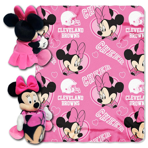 Cleveland Browns Nfl Minnie Mouse With Throw Combo